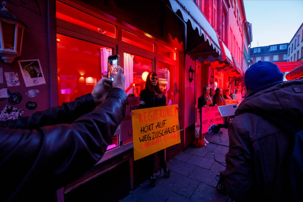 DEU: Hamburg Red Light District Struggles Under Coronavirus Restrictions