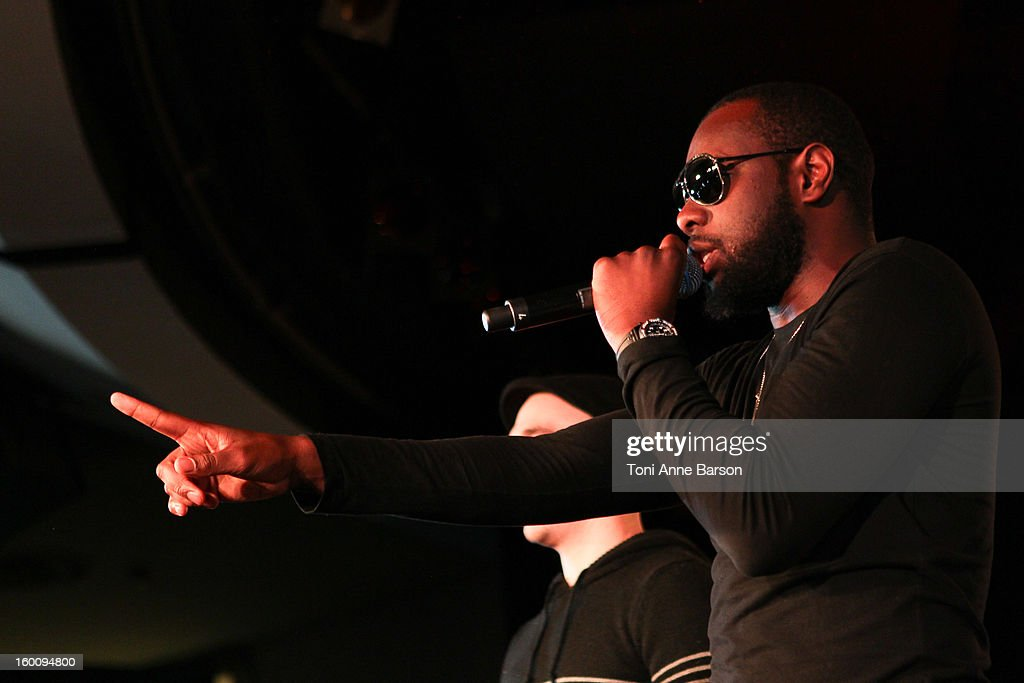 Sexion d'Assaut performs during 'Before NRJ Music Awards 2013 Concert' at Palais des Festivals on January 25, 2013 in Cannes, France.