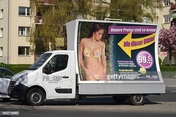 Sexisistische Werbung Auto Berlin Deutschland