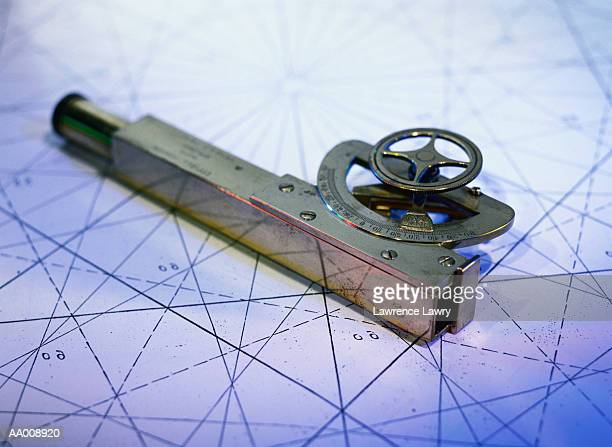 Sextant on a Nautical Chart