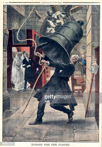 sexton of the church of Bayer near Fribourg crushed by a bell while he was ringing a wedding lastpage of newspaper Petit Journal december 19 1909