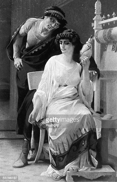 Sextus Tarquinius the son of Roman king Tarquinius Superbus is overcome with lust for Lucretia the wife of a Roman nobleman She killed herself...