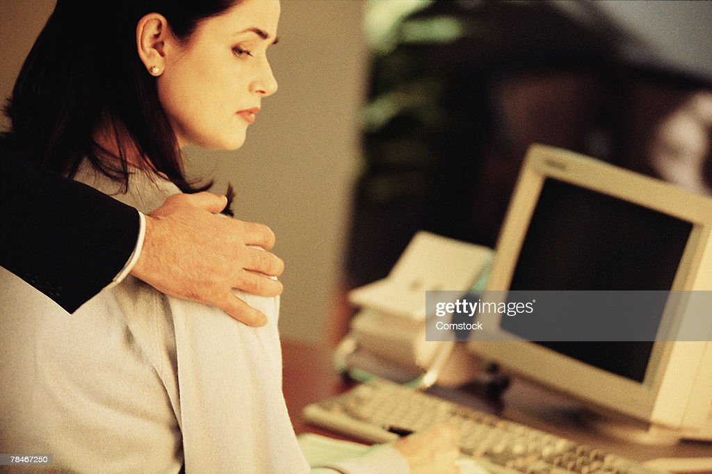 Sexual harassment in the workplace : Stock Photo