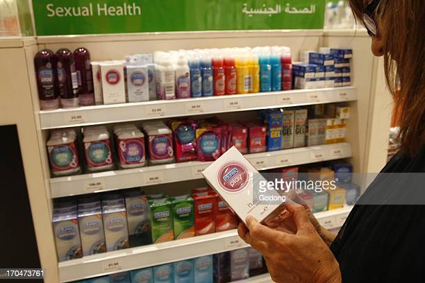 Sexual health department in a drugstore United Arab Emirates