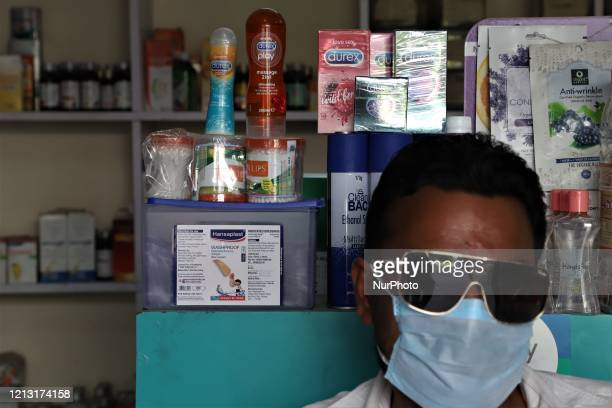 Sexual Wellness items like Condoms and Lubricants are seen at a medical store in Gurugram on the outskirts of New Delhi, India on 16 May 2020.