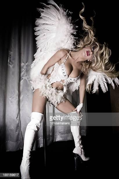 sexy angel - showgirl stock-fotos und bilder