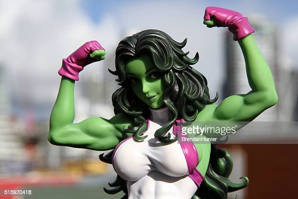 sexy avenger - incredible hulk stock photos and pictures