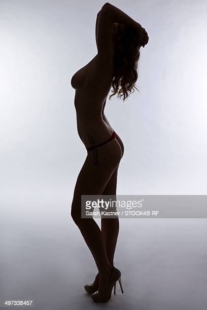 Sexy barechested woman