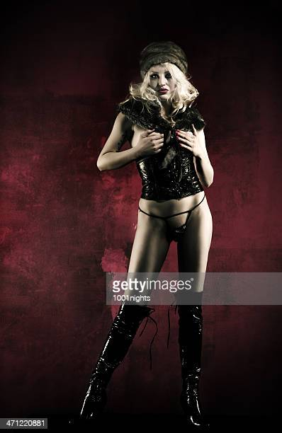 sexy blondie - black boot stock pictures, royalty-free photos & images