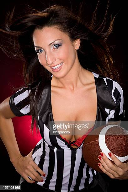 Sexy Brunette Football Fantasy Girl