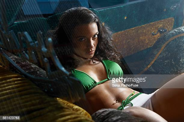 sexy brunette woman in back of car - mini skirt stock pictures, royalty-free photos & images