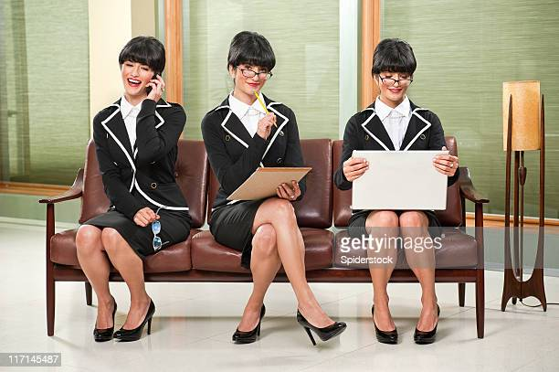 sexy businesswoman multi tasking - secretary stock photos and pictures