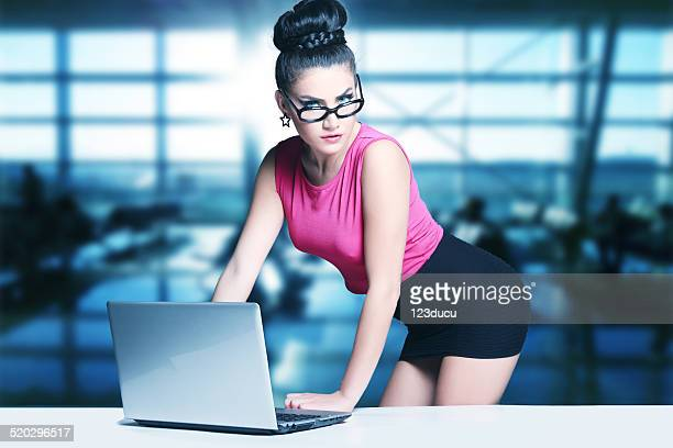 sexy businesswoman - secretary stock photos and pictures