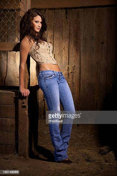 sexy cow girl - cowgirl stock photos and pictures