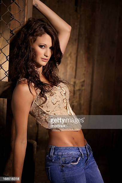 sexy cow girl - hot dirty girl stock photos and pictures