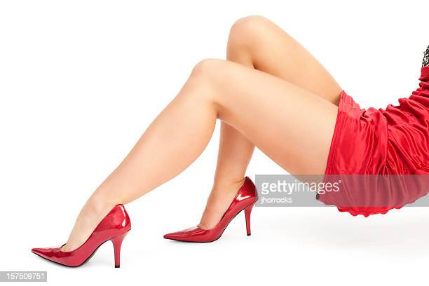 sexy female legs - high heels short skirts stock pictures, royalty-free photos & images