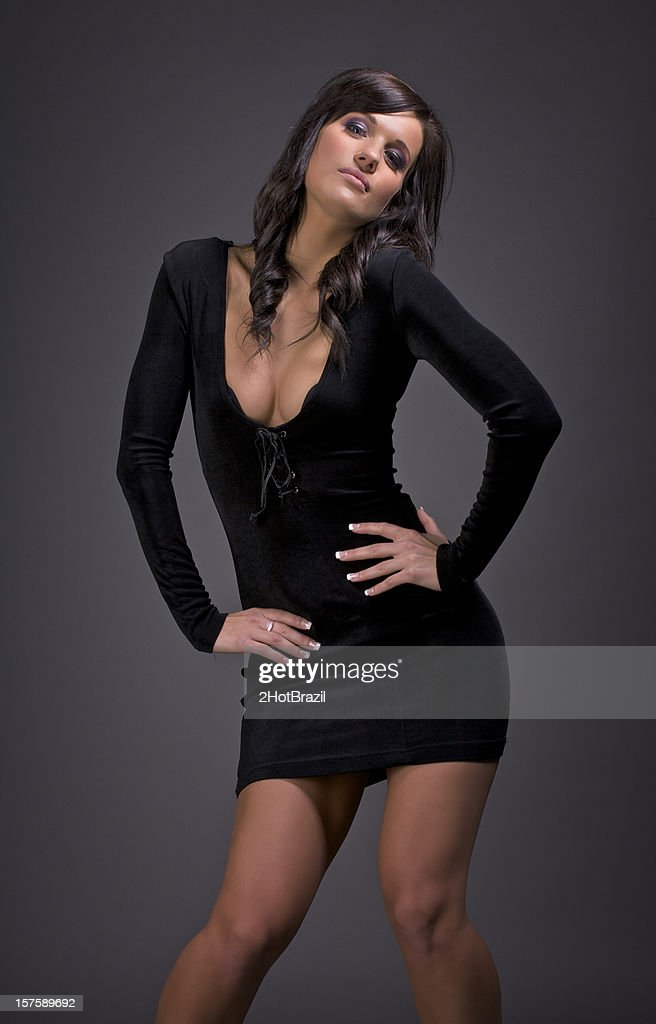 Sexy Girl In A Little Black Dress Stock Photo  Getty Images-4851