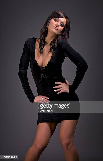 Sexy Girl in a Little Black Dress