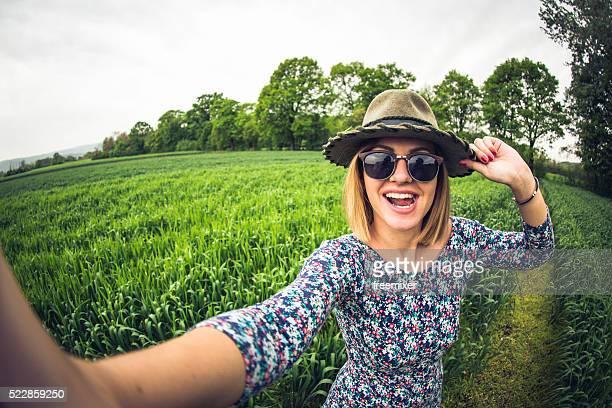 Sexy girl taking selfie