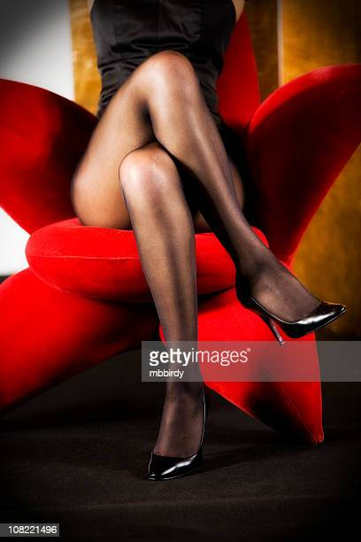 sexy legs - beautiful legs in high heels stock photos and pictures