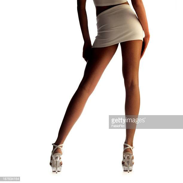 sexy legs - high heels short skirts stock pictures, royalty-free photos & images