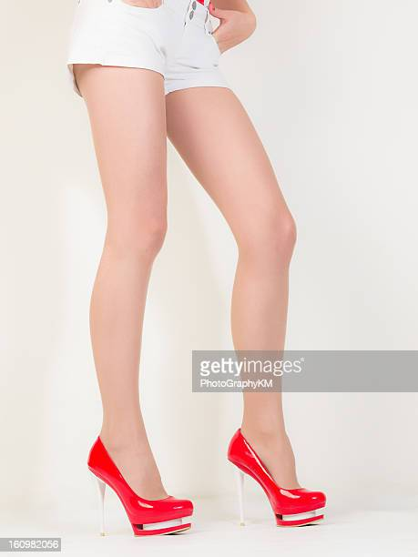 sexy legs - nylon feet stock photos and pictures