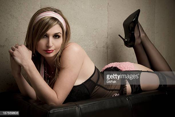 sexy lingerie - garter belt models stock pictures, royalty-free photos & images