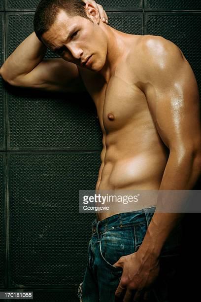 modello sexy maschile - ragazzi fighi nudi foto e immagini stock
