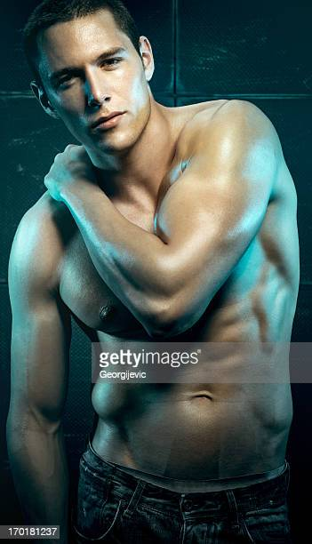 sexy male model - shirtless stock pictures, royalty-free photos & images