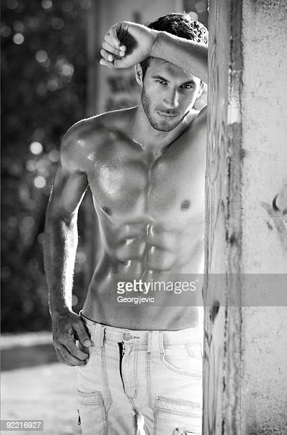 sexy male model - male armpits stock pictures, royalty-free photos & images