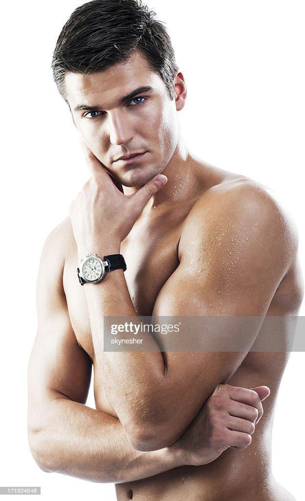 Sexy Nackter Mann Mit Eine Uhr Stock-Foto | Getty Images