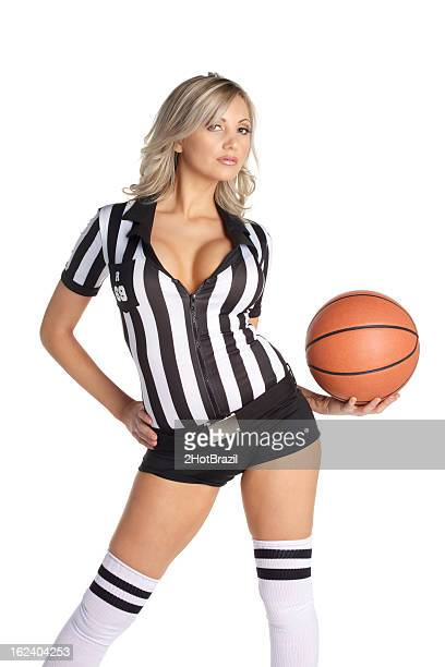 sexy referee woman - female umpire stockfoto's en -beelden