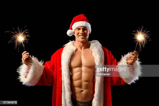 sexy santa - chippendales photos et images de collection