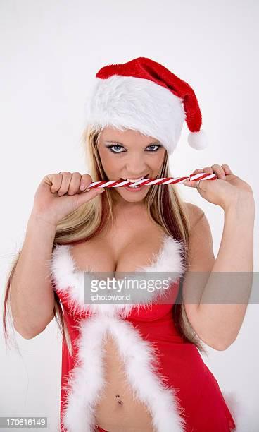 sexy santa - sensualiteit stockfoto's en -beelden