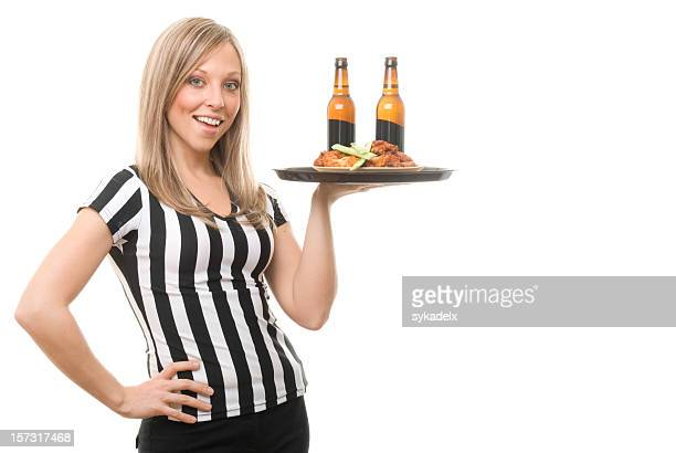 Sexy Sports Bar Waitress with Alcohol