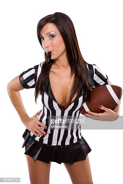 sexy sports referee - female umpire stockfoto's en -beelden