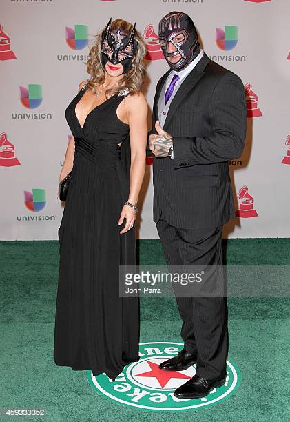Sexy Star and Mil Muertes attend the 15th annual Latin GRAMMY Awards at the MGM Grand Garden Arena on November 20 2014 in Las Vegas Nevada