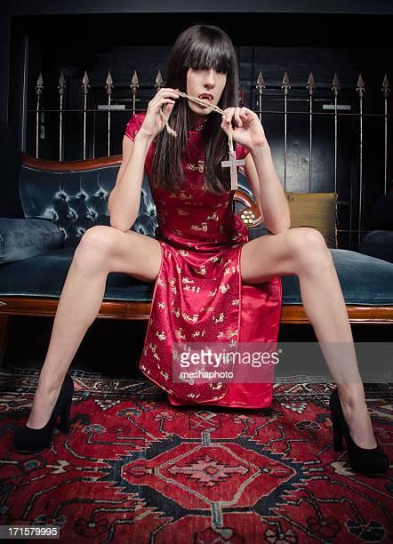 Sexy Vampir Frau
