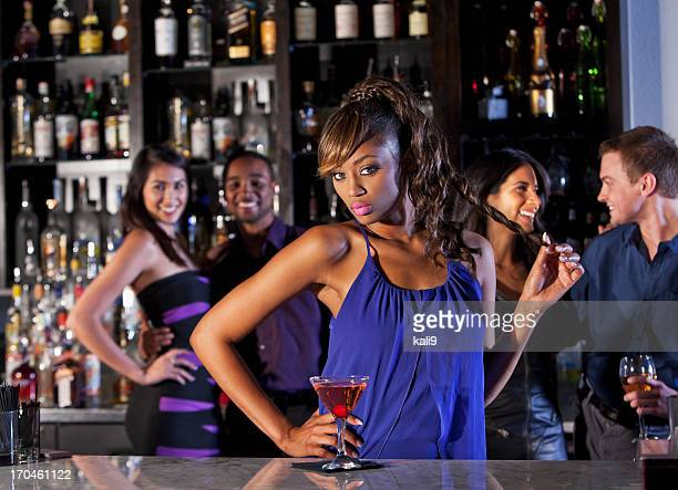 Sexy woman at bar