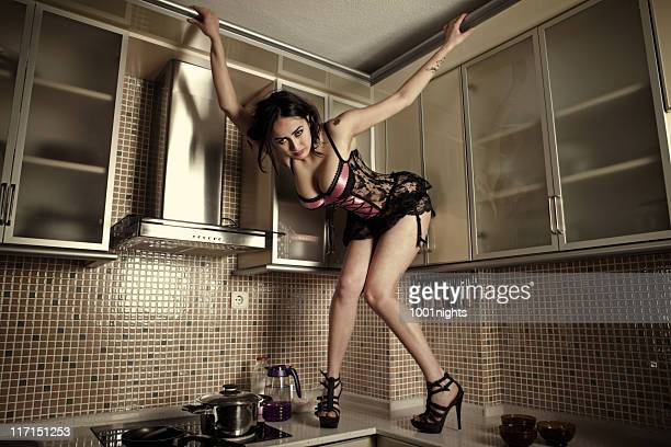 Sexy Woman in a kitchen