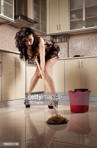 Sexy Woman In Kitchen Stock Photo Getty Images
