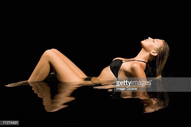 Sexy woman in water