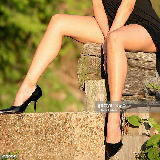 sexy woman legs in high heels and mini dress. - high heels short skirts stock pictures, royalty-free photos & images