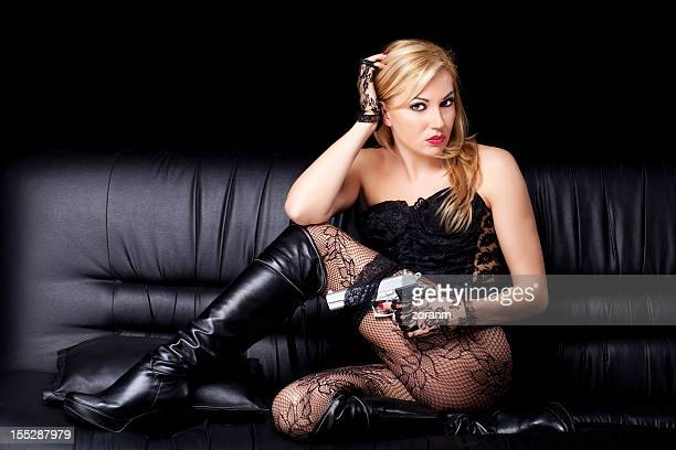 sexy woman - ankle boot stock photos and pictures