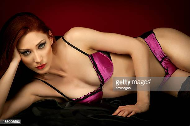 sexy woman - satin stock pictures, royalty-free photos & images