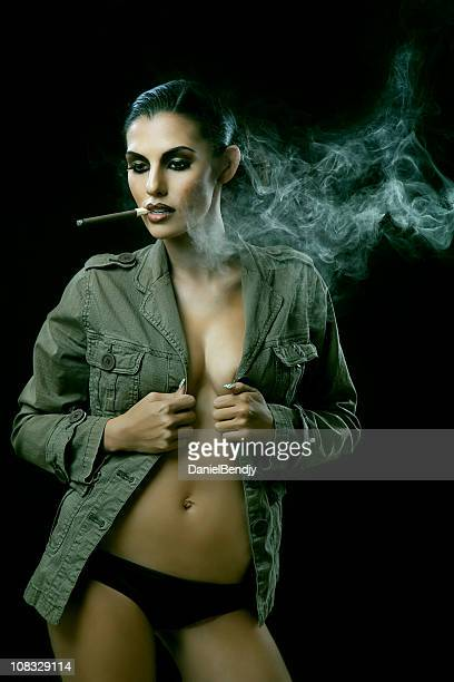 sexy women smoking cigars