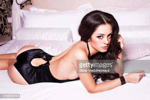 Miraculous Sexy Woman With Black Hair In Lingerie Lying In Bed High Res Uwap Interior Chair Design Uwaporg