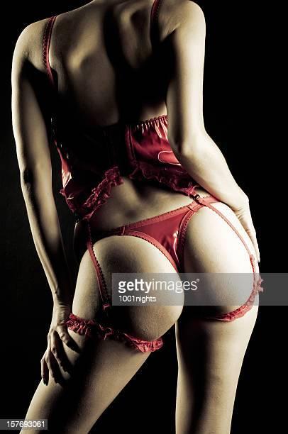 Lencería Sexy mujer con rojo