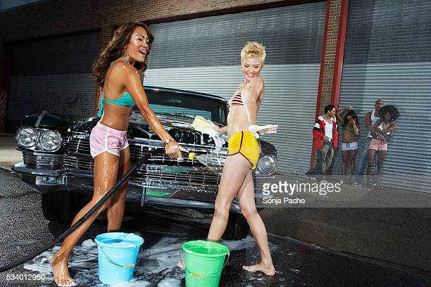 naked girls washing each other