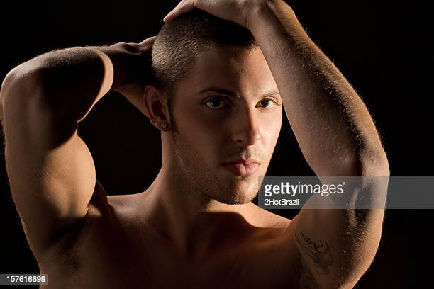 sexy jeune gay homme - membre photos et images de collection